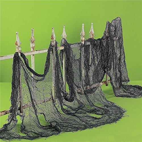 Zytree(TM) Halloween Decoration Decoration Organza Sheer Gauze Element Yarn Roll Black and White Gauze Atmosphere Rendering GI874550[black] -