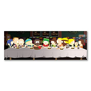 Amazonde Panorama Art Print SOUTH PARK CHARACTERS LAST SUPPER Best Art Print Display Stand