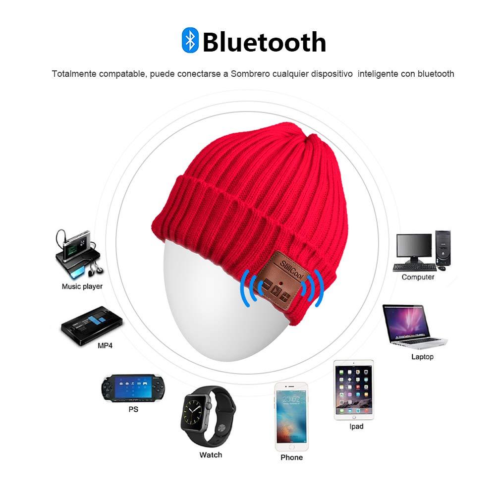 StillCool Gorro Auricular Bluetooth de Punto Invierno Unisex Beanie ...