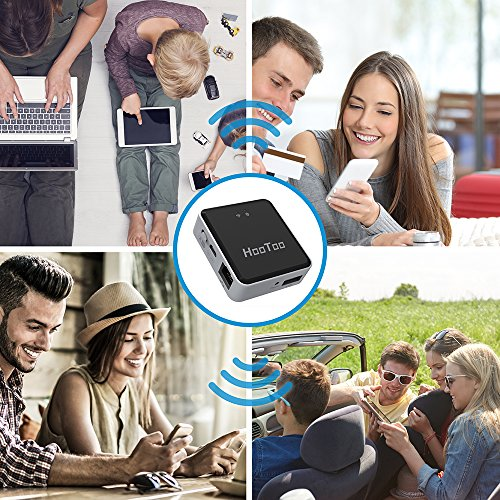 HooToo Wireless Travel Router, USB Port Media Streaming, Bridge Mode & Router Mode (Not a Hotspot), TripMate Nano