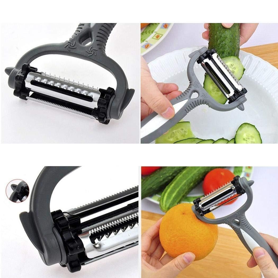 Adidome Hot 3 in 1 Rotary Fruit Vegetable Carrot Potato Peeler Cutter Slicer New Peelers