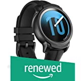 (Renewed) Smart Watch TicWatch E2, Wear OS by Google Fitness smartwatch, 5 ATM Waterproof and Swim-Ready, Compatible with iPhone and Android- Shadow