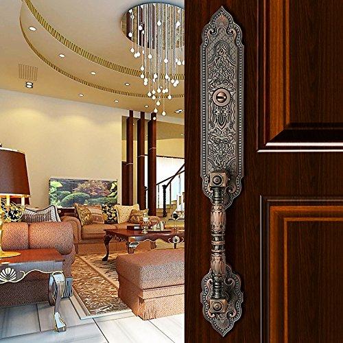 K6847 # Luxurious Mortise Lock Entry Entrance Front Door Handle Lockset (Single Door, Red Antique Bronze)