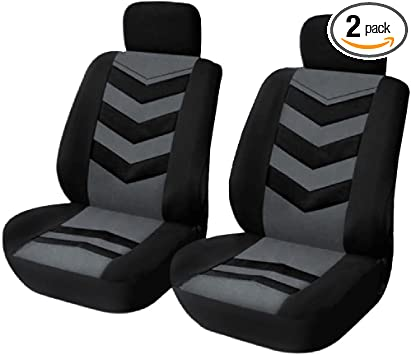 2 BLACK FRONT VEST CAR SEAT COVERS PROTECTORS FOR TOYOTA RAV4
