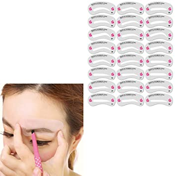 Amazon com : Eyebrow Shaping Stencils Grooming Kit Makeup