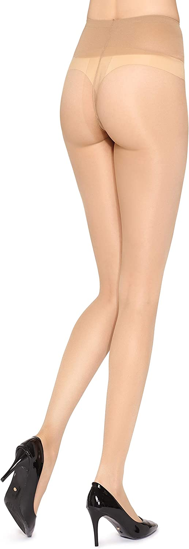 Merry Style Damen Strumpfhose ohne Boxershort mit niedriger Taillenh/öhe und Komfortbund 20 DEN MSGI016