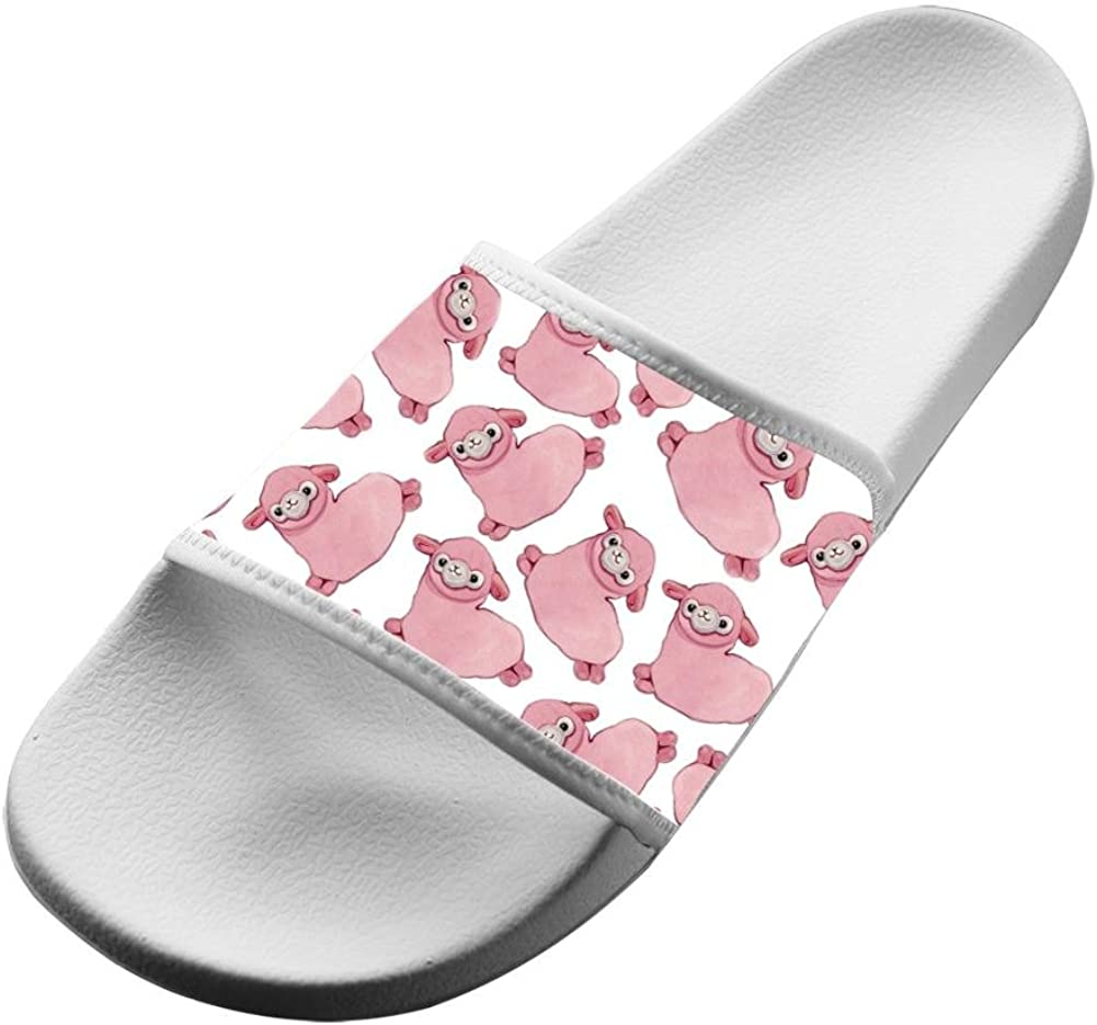 Slippers Pink Sheep Jumbuck 3D Printed Casual House Family Shoes Athletic Flat Sandal Couple Babouche Slip-on Open Toe