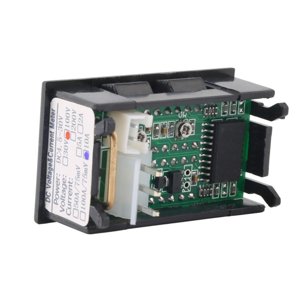 Ane Dc 0 100v 10a Voltmeter Ammeter Red Blue Led Amp Dual Digital Schematic Using Icl7107 Picture Volt Meter Gauge Display