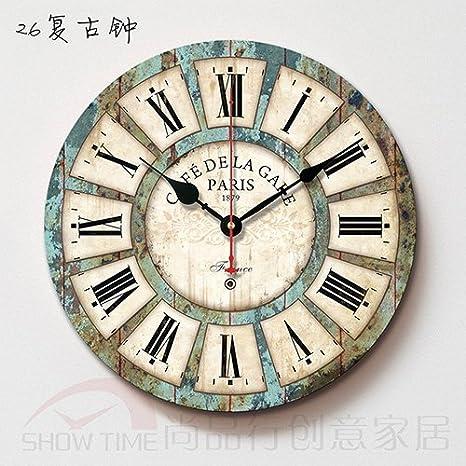 Y-Hui Dormitorio Salón Home reloj Relojes de mesa No, reloj de pared, 16 pulgadas, 26 Reloj verde del Ejército: Amazon.es: Hogar