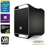 "VR Ready Mini Gaming PC w/ Intel i7-6700, 16GB, 256GB 2.5"" SSD,2TB HDD GTX 1080, Win 10 Pro - Configured and Assembled by MITXPC"