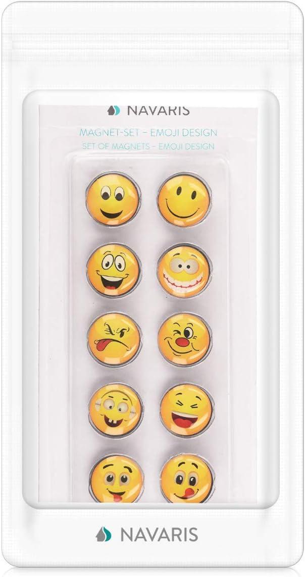 Diff/érents mod/èles Tableau Blanc frigo Cuisine d/écoration Navaris 10x Aimant Emoji Rond Lot de Magnets /émotic/ônes pour Tableau magn/étique