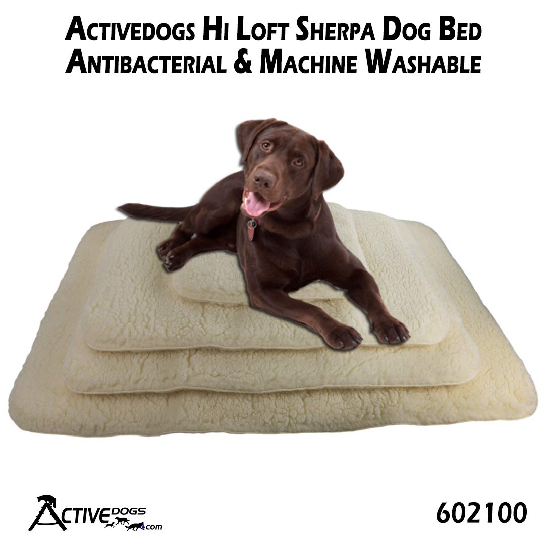 Activedogs Hi Loft Sherpa Faux Lambskin Dog Bed Orthopedic Machine Washable