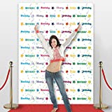 Birthday Photo Backdrop,Party accessory, No-wrinkle,Fabric,Seamless,Foldable Banner,Non-Glare. 7' Tall and 5'3'' Wide. Made in USA.
