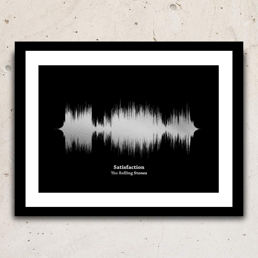 Print your favourite song, wall hanging, metallic foil sound waves,sound wave art,soundwave,soundwave art, soundwave silver, wave art decor,art print,wall decor,
