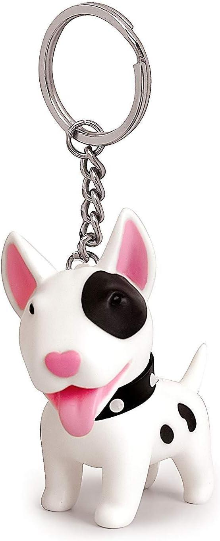 Boston Terrier Dog Tiny One Resin Keychain Key Chain Ring