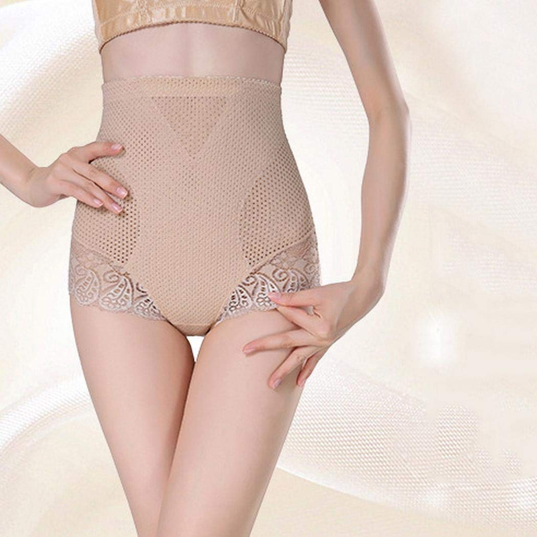 ROCONAT Women Casual Lace Patchwork High Waist Body Shaper Shapewear Panties Control Panties