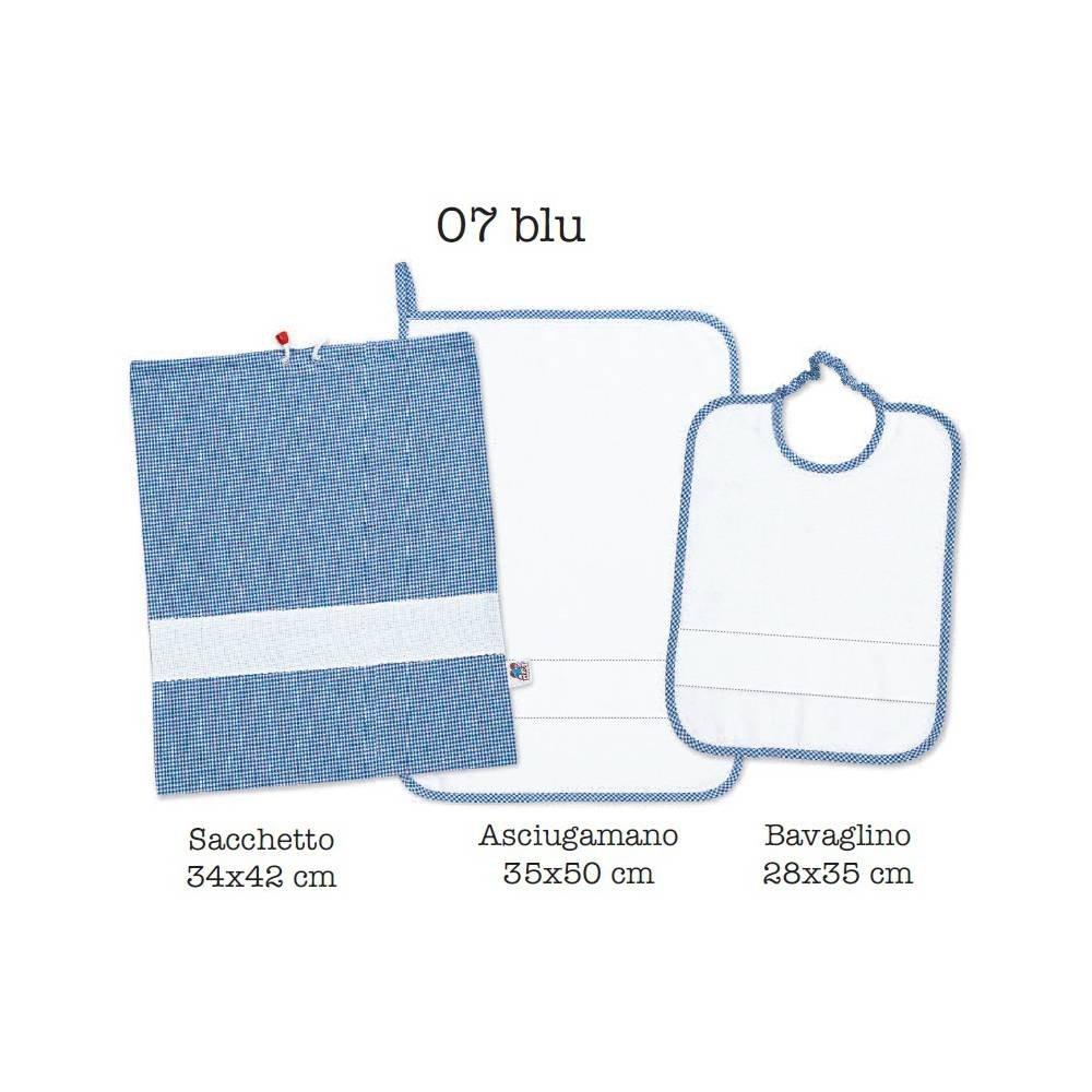 Asciugamani E Bavaglini Personalizzati.Set Asilo Personalizzato Con Nome Ricamato 3 Pezzi Bavaglino