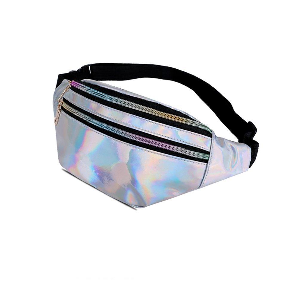 Waist Bag for Women /& Men Holographic Fanny Pack Bum Bag with Adjustable Belt.