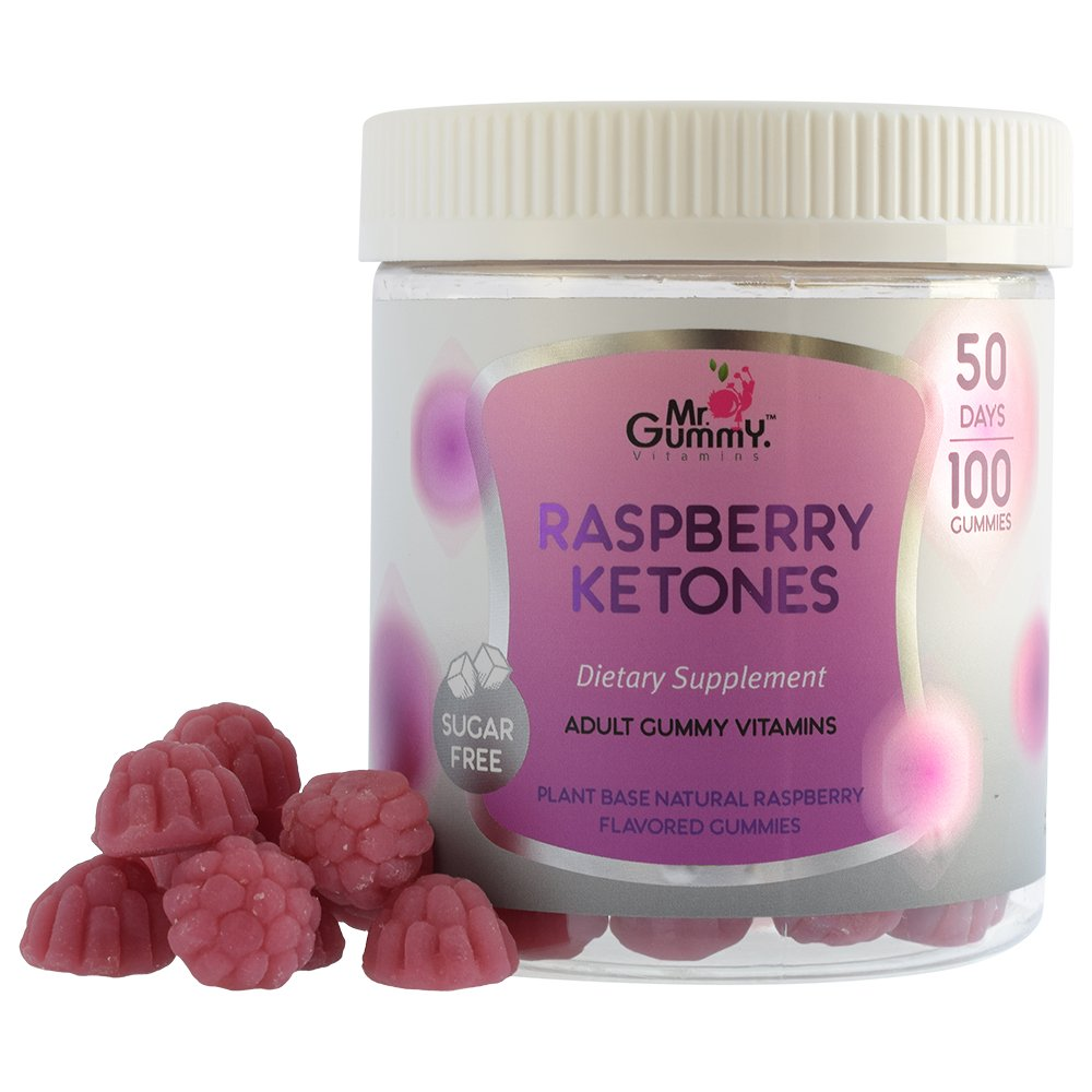Mr Gummy Vitamins Raspberry Ketones Sugar Free Dietary Ketogenic Supplement | Promotes Healthy Weight Loss, Supports Metabolism & Provides Strength | [100 Gummies, 50-Day Supply] | for Men and Women by Mr. Gummy (Image #8)