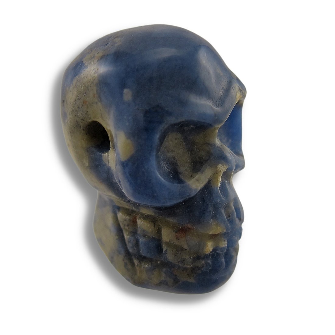 Things2Die4 Acrylic Loose Gemstones Carved Sodalite Gemstone Skull Pendant 25Mm 1 Inch Multicolored