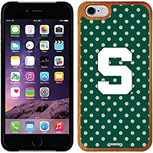 fashion case iphone 5s Madera Wood Thinshield Case with Michigan State Mini Polka Dots Design