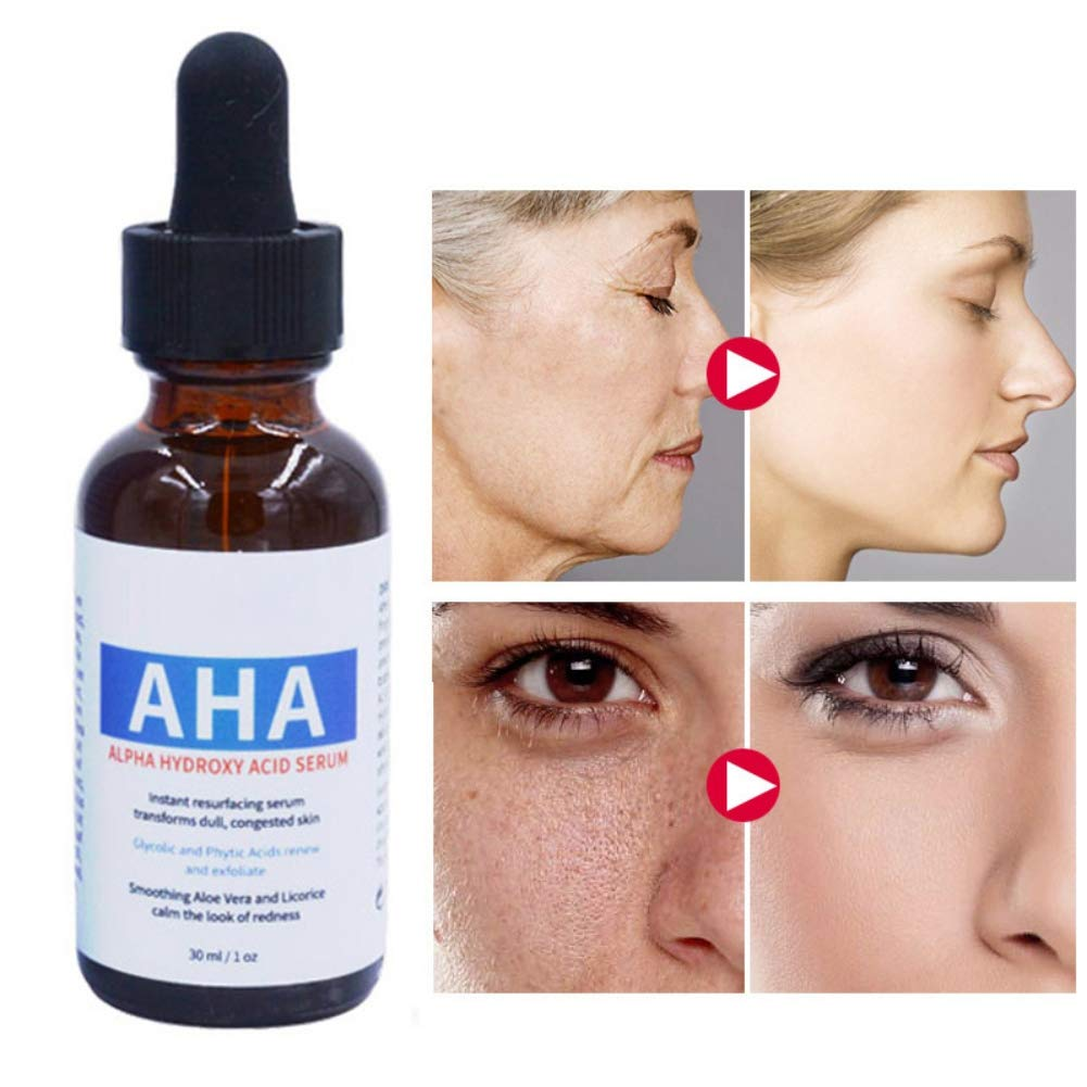 RedDhong Alpha Hydroxy Acid Serum, Moisturizing Anti-aging, Soothing Skin, Reduce Dull Redness, Skin Repairing Facial Serum