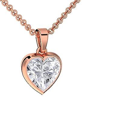 Herzkette Rotgold Kette Zirkonia Stein Damen   Silber 925 hochwertig  vergoldet   +GRATIS 7f0c4cd3b7