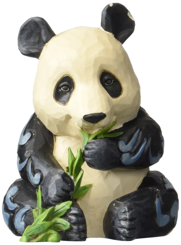 "Enesco Jim Shore Heartwood Creek Mini Panda Stone Resin Figurine, 3"""