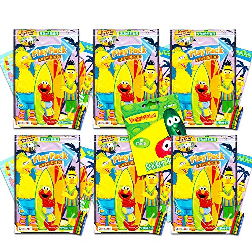 Sesame Street Elmo Ultimate Party Favors Packs -- 6 Sets with Stickers, Coloring Books and Crayons (Party Supplies)]()