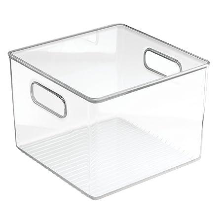 InterDesign Cabinet/Kitchen Binz Kitchen Storage Container, Large Plastic  Storage Boxes For The Fridge