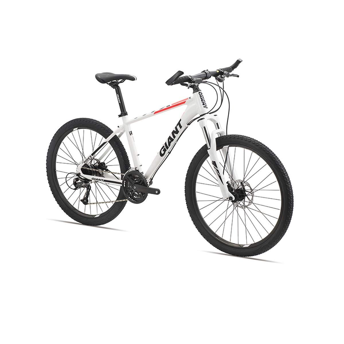 ロードバイク、27スピード26インチホイールロードバイク、油圧ディスクブレーキバイク、アルミ合金 (Color : White, Edition : 27 speed) 27 speed White B07QQNQPJX
