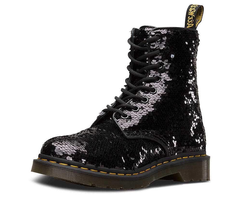 6de9324a5227 Dr. Martens 1460 Pascal Sequin Femmes Noir Argent Bottes  Amazon.fr   Chaussures et Sacs