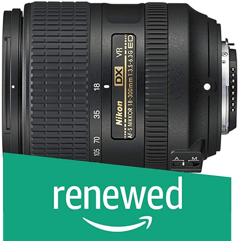 Nikon AF-S DX NIKKOR 18-300mm f/3.5-6.3G ED Vibration Reduction Zoom Lens with Auto Focus for Nikon DSLR Cameras (Renewed)