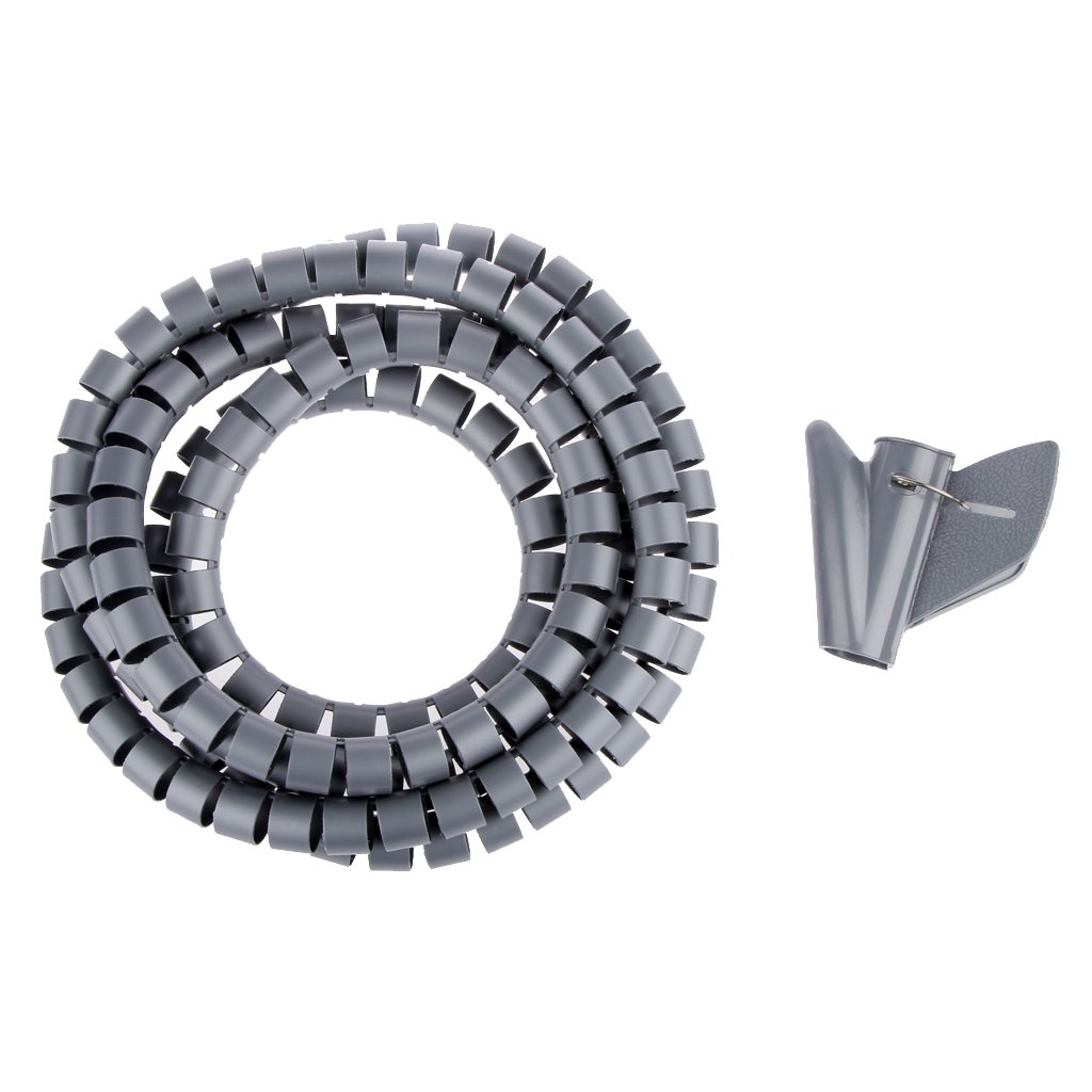 Sharplace 2m Kabelspirale Spiralband Kabelschlauch Kabelschutz Wei/ß-20mm