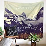 Doremy Wall Hanging Tapestry, Beach Towel Bath Towel with Romantic Pictures Art Nature Home Decorations, Sports, Swim, Pool, Spa and Sauna 59 x 51 inches (TP1081-10)