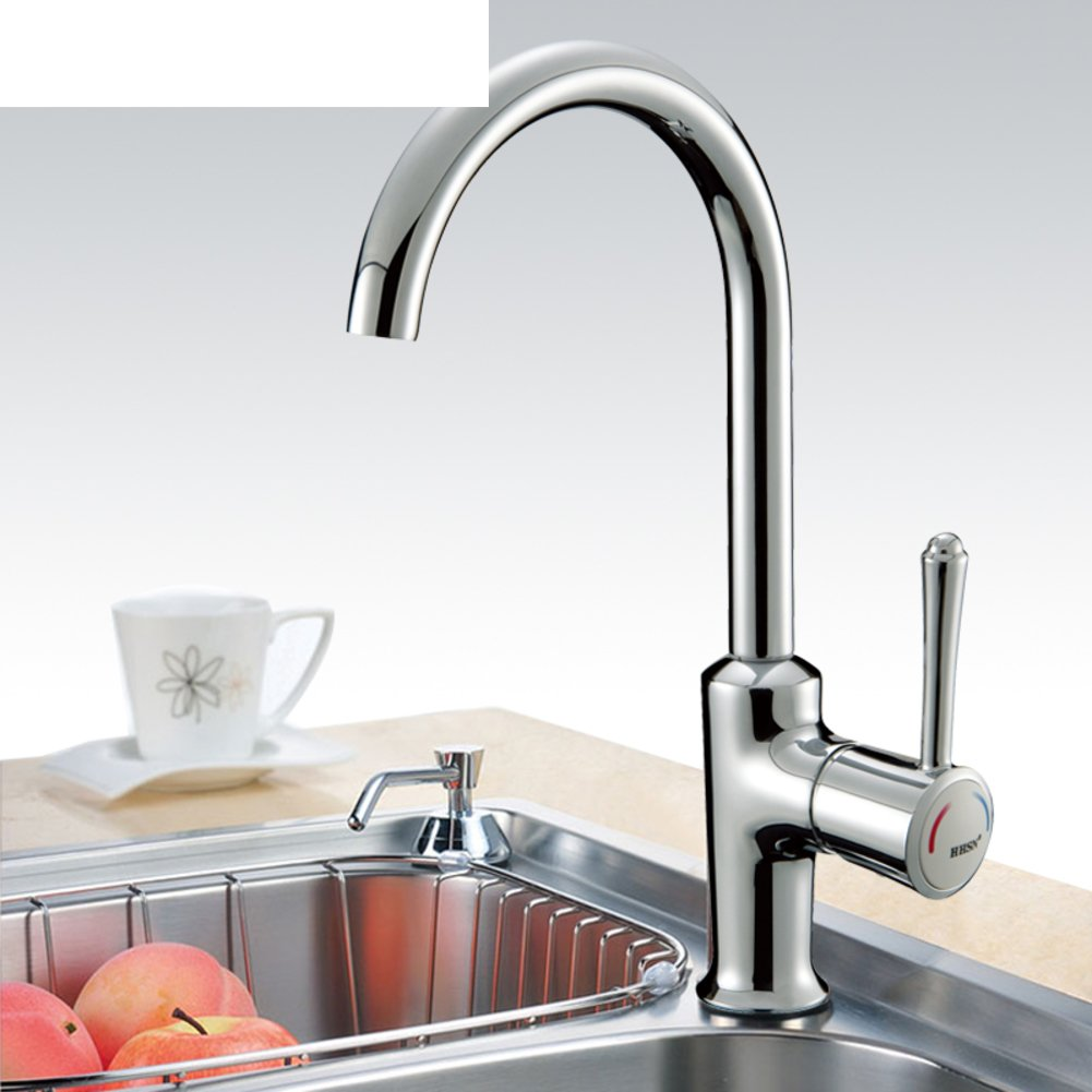 Stainless Steel Kitchen Sink Faucet Vegetables Basin hot and Cold taps