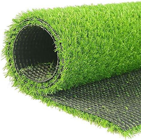 """人工芝屋外緑 15 mm人工芝カーペット、6フィート6""""(2メートル)幅はあなた自身の長さを選択してください、高密度フェイクターフ安いナチュラル&リアルなアストロガーデンの芝生 高密度偽の芝生犬 (Color : 2m x 2m)"""