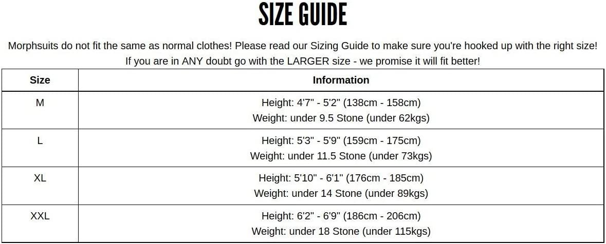 """Size: up to 5'10"""" Black Skinsuit New Mens"""