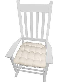 Amazon.com: Mecedora Cojín para asiento w/vínculos – Algodón ...