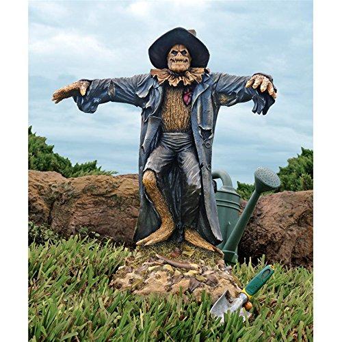Design Toscano Harvest of Evil Zombie Scarecrow Garden Statue - Halloween -