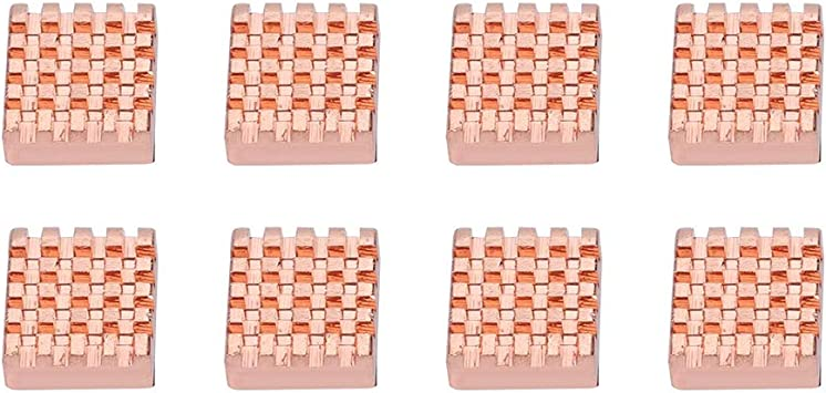 Motherboard CPU and MOS Tube Wendry Heat Sink Cooling Fin 8PCS Pure Copper RAM Heat Sink Cooling Fin Heatsink for Northbridge Notebook
