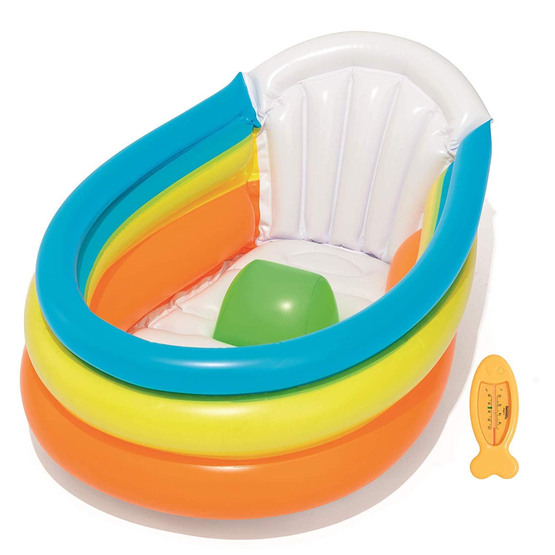 Baño de Bebé Hinchable | ¡Casa o Viaje! | Fácil de Inflar Bañera ...