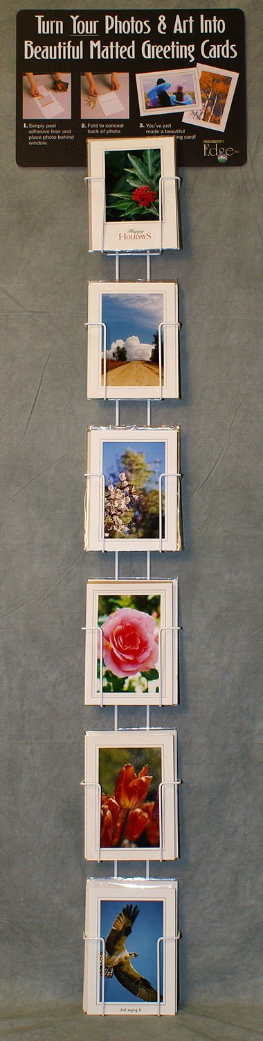 Photographer's Edge, Wall Rack, Vertical Pockets For 5'' x 7'' Cards by Photographer's Edge