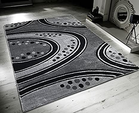 Pavimento Grigio Moderno : Nuovo moderno grigio nero vortici design casa pavimento tappeto