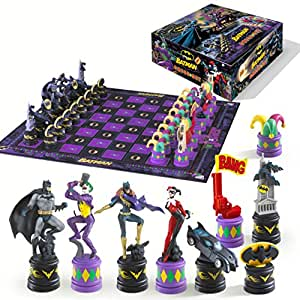 Batman Chess Set Dark Knight vs Joker Noble Collection sets