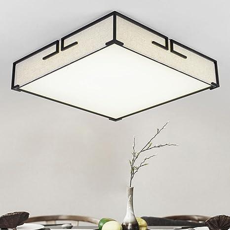 LED Lámpara de techo Paño Cuadrado Tela Lámpara de techo ...