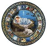 God's Gift of Love Christ Child Alseep in Manger Large Double Sided Advent Calendar, 17 Inch