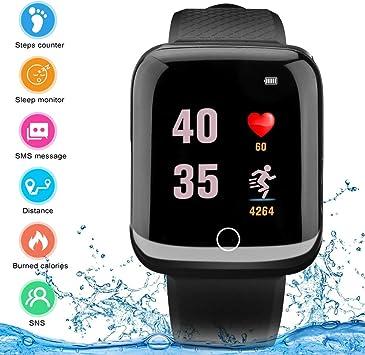 Montre Intelligente, Android iOS Smart Watch étanche à écran Tactile avec Appareil Photo Bluetooth Montre téléphone avec Emplacement pour Carte SIM,