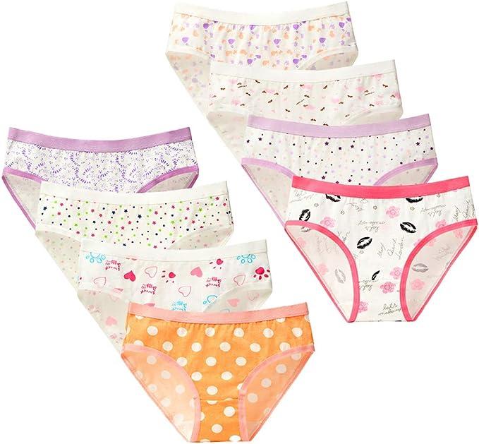 Kidear Ropa Interior de algodón para niñas Paquete de 8 Bragas Bragas de Hipster de Chica de Mediana Altura: Amazon.es: Ropa y accesorios