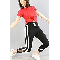 Akbaba Moda Plaza Kadın Geniş Çift Şeritli Siyah Eşofman Altı 116BK270044